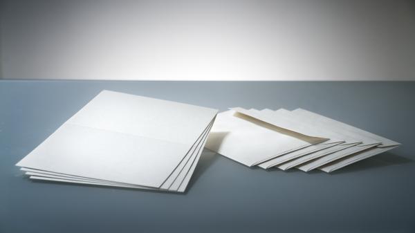 DIN A5 Hanfpapier Set: Klappkarte mit Kuvert